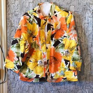 Coldwater Creek floral blazer size W18